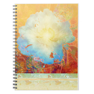 Abstract Peony Spiral Notebooks