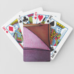 abstract people bicycle playing cards