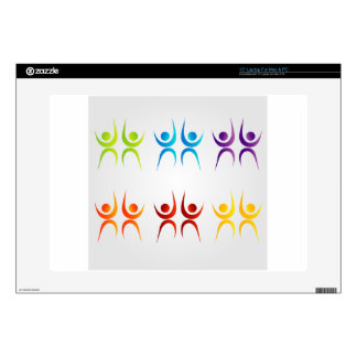 """Abstract people- colorful people 15"""" laptop skin"""