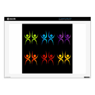 """Abstract people- colorful people 17"""" laptop skin"""