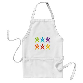Abstract people- colorful people adult apron