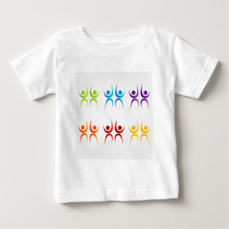 Abstract people- colorful people baby T-Shirt