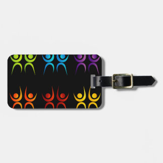 Abstract people- colorful people bag tag