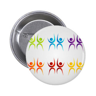 Abstract people- colorful people button