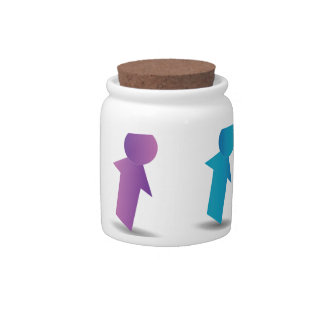 Abstract people- colorful people candy dish