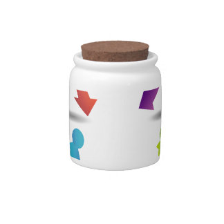 Abstract people- colorful people candy jars