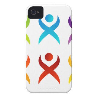 Abstract people- colorful people Case-Mate iPhone 4 cases