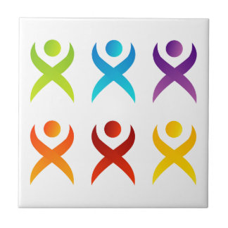 Abstract people- colorful people ceramic tile