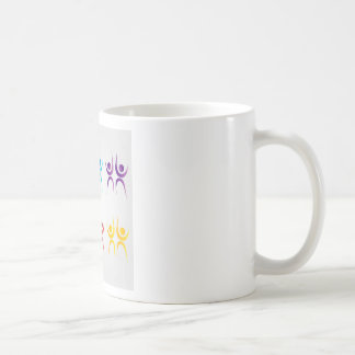 Abstract people- colorful people coffee mug