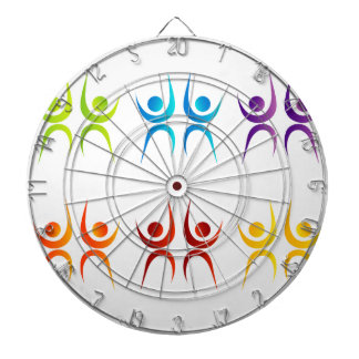 Abstract people- colorful people dartboards