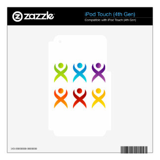 Abstract people- colorful people decal for iPod touch 4G