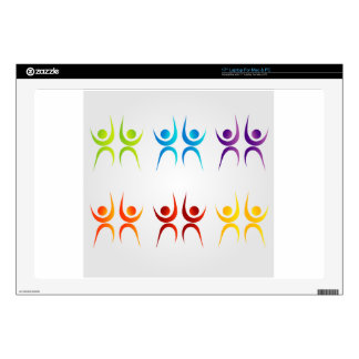Abstract people- colorful people decal for laptop