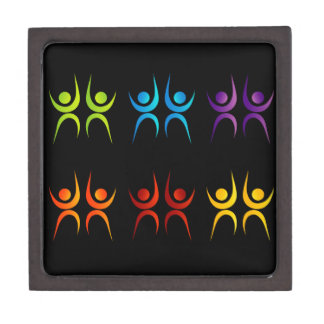 Abstract people- colorful people gift box
