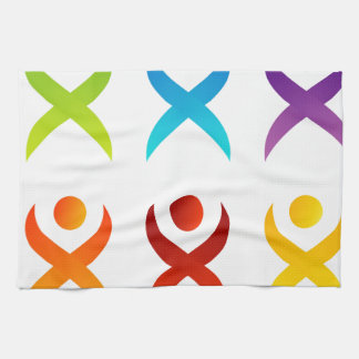 Abstract people- colorful people hand towels