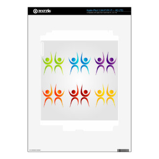 Abstract people- colorful people iPad 3 decals