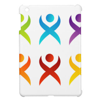 Abstract people- colorful people iPad mini cover