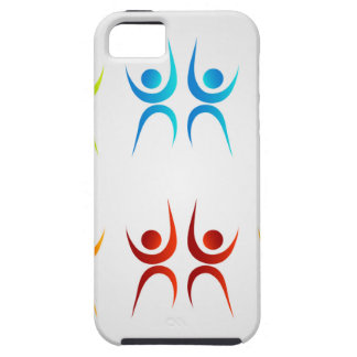 Abstract people- colorful people iPhone SE/5/5s case