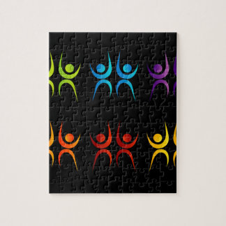 Abstract people- colorful people jigsaw puzzle