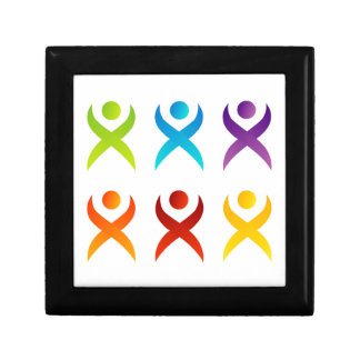 Abstract people- colorful people keepsake box
