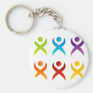Abstract people- colorful people keychain