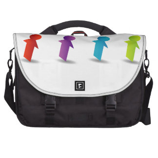 Abstract people- colorful people laptop commuter bag