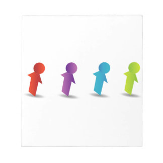 Abstract people- colorful people memo note pads