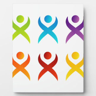 Abstract people- colorful people plaque