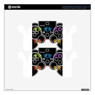 Abstract people- colorful people PS3 controller decal