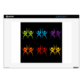 Abstract people- colorful people skin for laptop