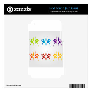 Abstract people- colorful people skins for iPod touch 4G