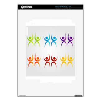 Abstract people- colorful people skins for the iPad 2