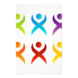 Abstract people- colorful people stationery