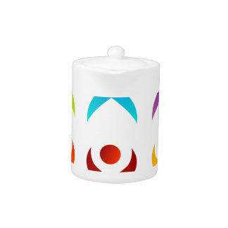 Abstract people- colorful people teapot