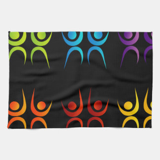 Abstract people- colorful people towel