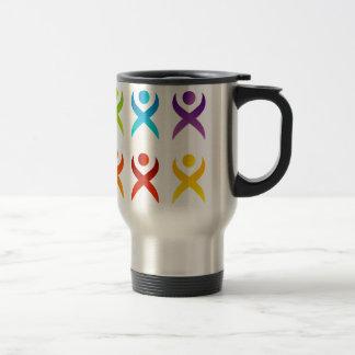 Abstract people- colorful people travel mug