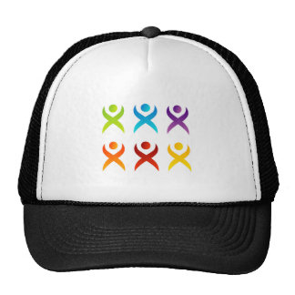 Abstract people- colorful people trucker hat