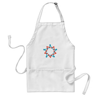 Abstract people together showing teamwork adult apron