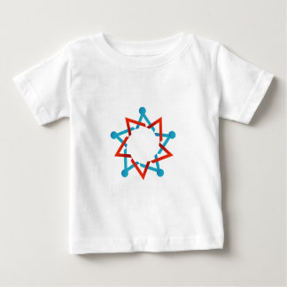Abstract people together showing teamwork baby T-Shirt