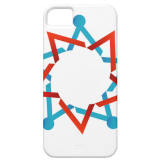 Abstract people together showing teamwork iPhone 5 covers