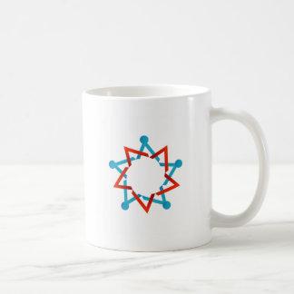 Abstract people together showing teamwork coffee mug