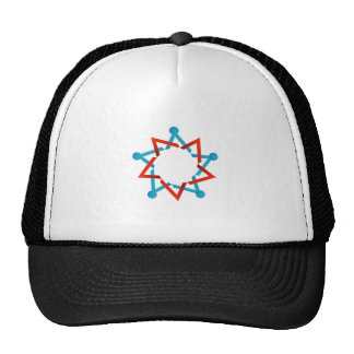 Abstract people together showing teamwork hats