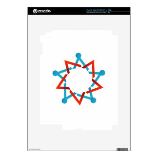 Abstract people together showing teamwork iPad 2 decal