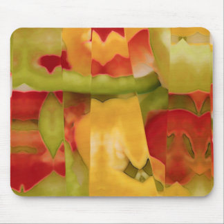 Abstract peppers mouse pad