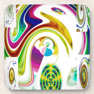 Abstract Perfection 9 Beverage Coaster