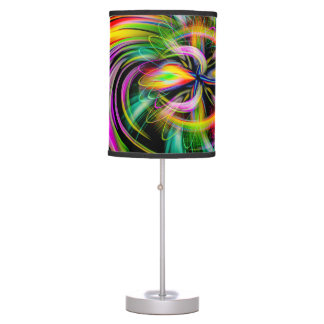 Abstract Perfection Tripod Lamp & Extra Table Shad