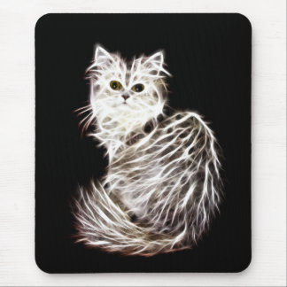 Abstract persian cat mouse pad