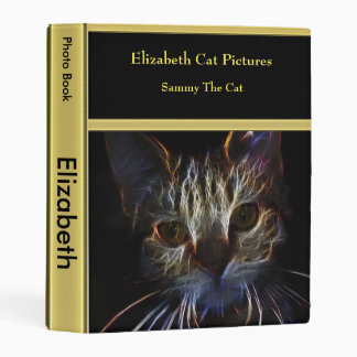 Abstract persian cat photo book with gold texture mini binder