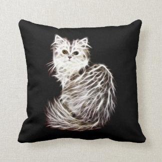 Abstract persian cat throw pillow