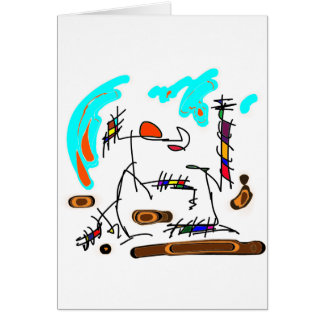 abstract person greeting card