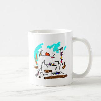 abstract person coffee mug